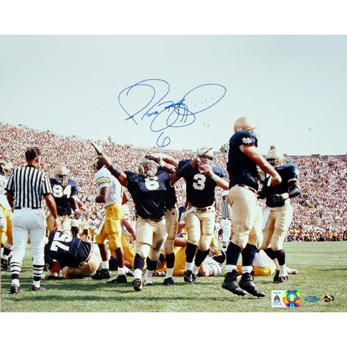 Steiner Sports NFL Pittsburgh Steelers Jerome Bettis vs. Michigan Arms In Air 16x20 Photo by Steiner Sports