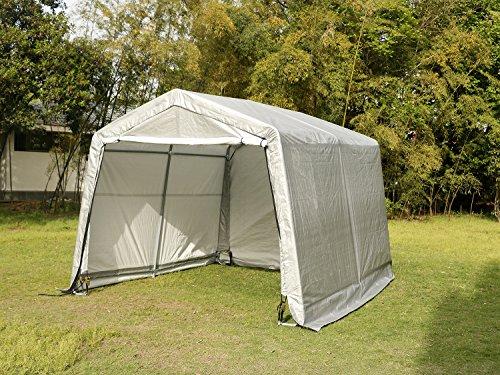Sliverylake 10×10×8ft Auto Shelter Storage Car Port Steel Garage Carport Car Tent Canopy by Sliverylake