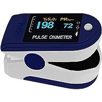Pulox PO-200 Solo van Pulox in donkerblauw voor het meten van de polsslag en zuurstofverzadiging op de vinger