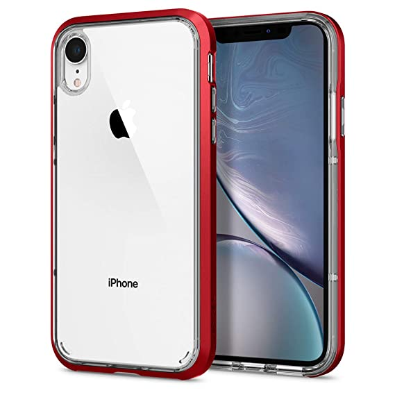 newest ad91e 561ba Spigen Neo Hybrid Crystal Designed for Apple iPhone XR Case (2018) - Red