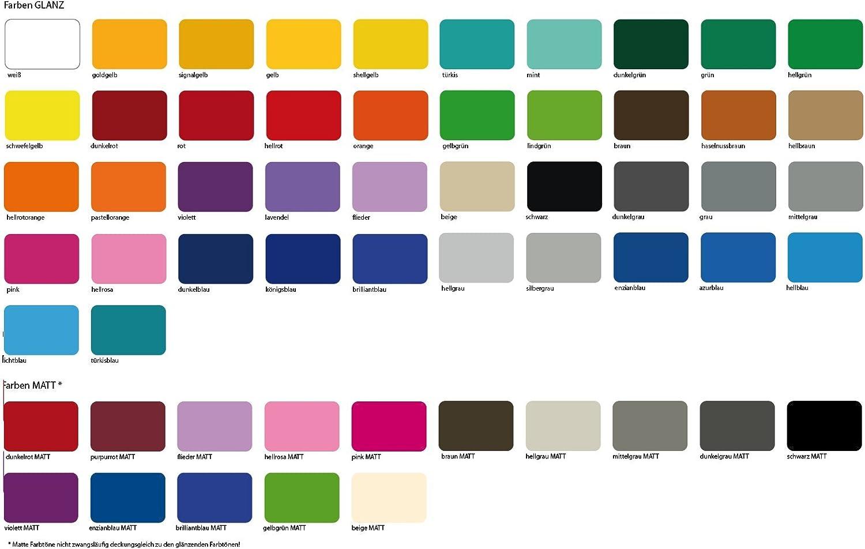 20 x 20 cm Fliesenaufkleber - viele Farben zur Wahl von Luminess Made in Germany 100 Stk