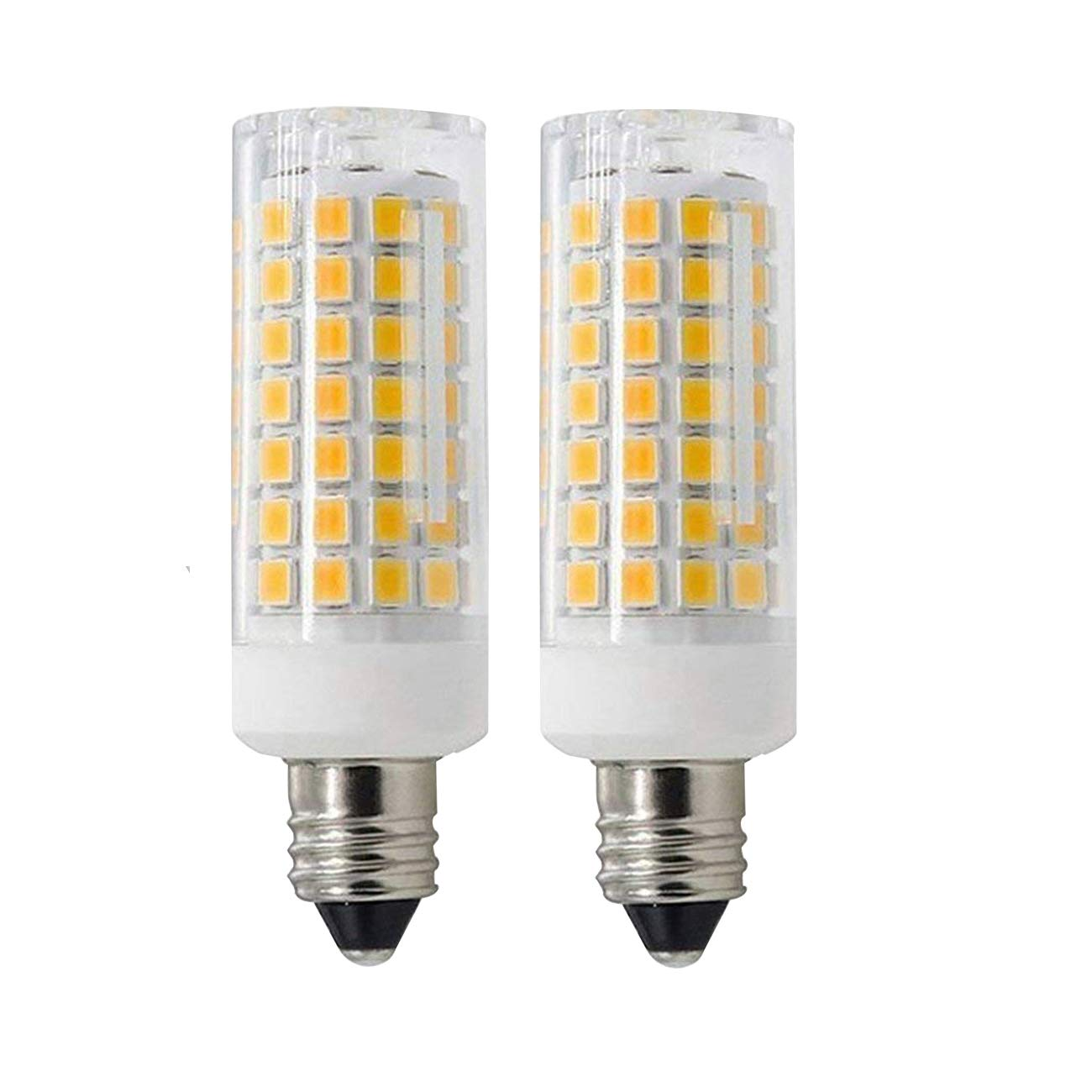 E11 Led Bulbs Dimmable Pack of 2 850Lm Home Lighting T3 T4 Led Bulbs for Chandeliers Warm White 3000K 7W JD E11 Mini Candelabra Base 70W Ceiling Fan Halogen Bulb Equivalent