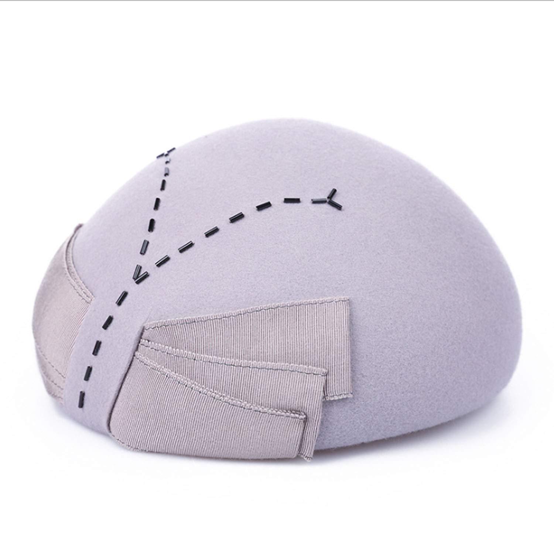 YQXR Moda Cupola Cappellini cap Autunno Inverno New Bellette Fashion Hat Tenere Caldo Cappello di Lana (Colore   Beige, Dimensione   M)