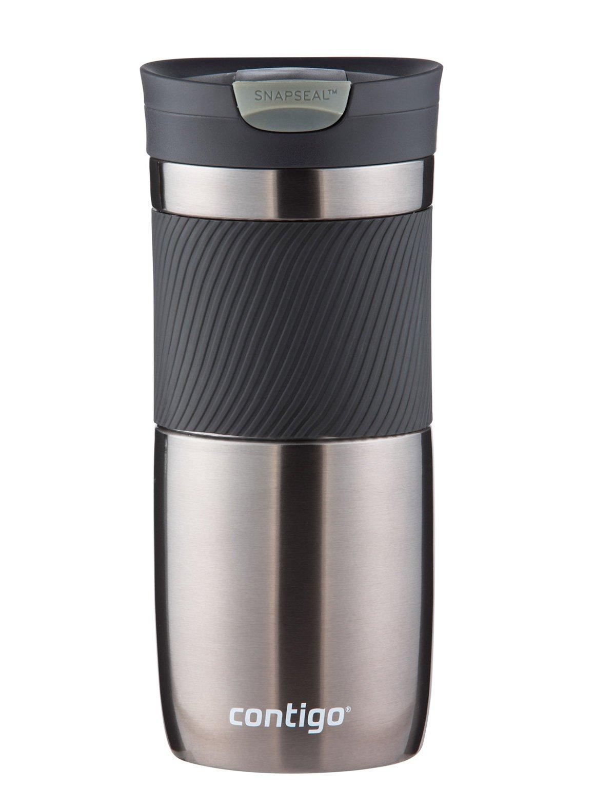 Contigo SnapSeal Byron Vacuum-Insulated Stainless Steel Travel Mug, 16 oz., Gunmetal by Contigo