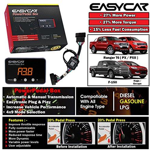 EASYCAR Power Pedal Box Throttle Controller For FORD Ranger T6 PX XL XLT 2012-14