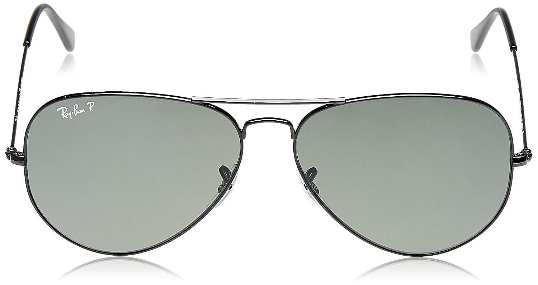 Ray-Ban - Gafas de sol aviador unisex, color 002/58, talla talla alemana: 55