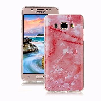 Yunbaoz Funda Compatible para Samsung Galaxy J7 2016 Mármol, Diseño Mármol Carcasa Suave Goma Silicona Soft Marble Case Suitable for Samsung Galaxy J7 ...