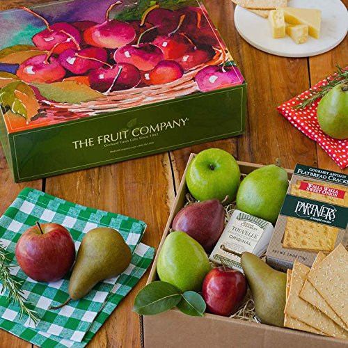 Cheese, Pears and Apples Gift Box - The Fruit Company