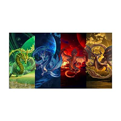 TianMai Hot New DIY 5D Diamond Painting Kits Full Drill Diamond Embroidery Painting Pasted Paint by Number Kit Stitch Craft Kit Home Decor Wall Sticker - Dragon, 30x50cm: Toys & Games [5Bkhe1101609]