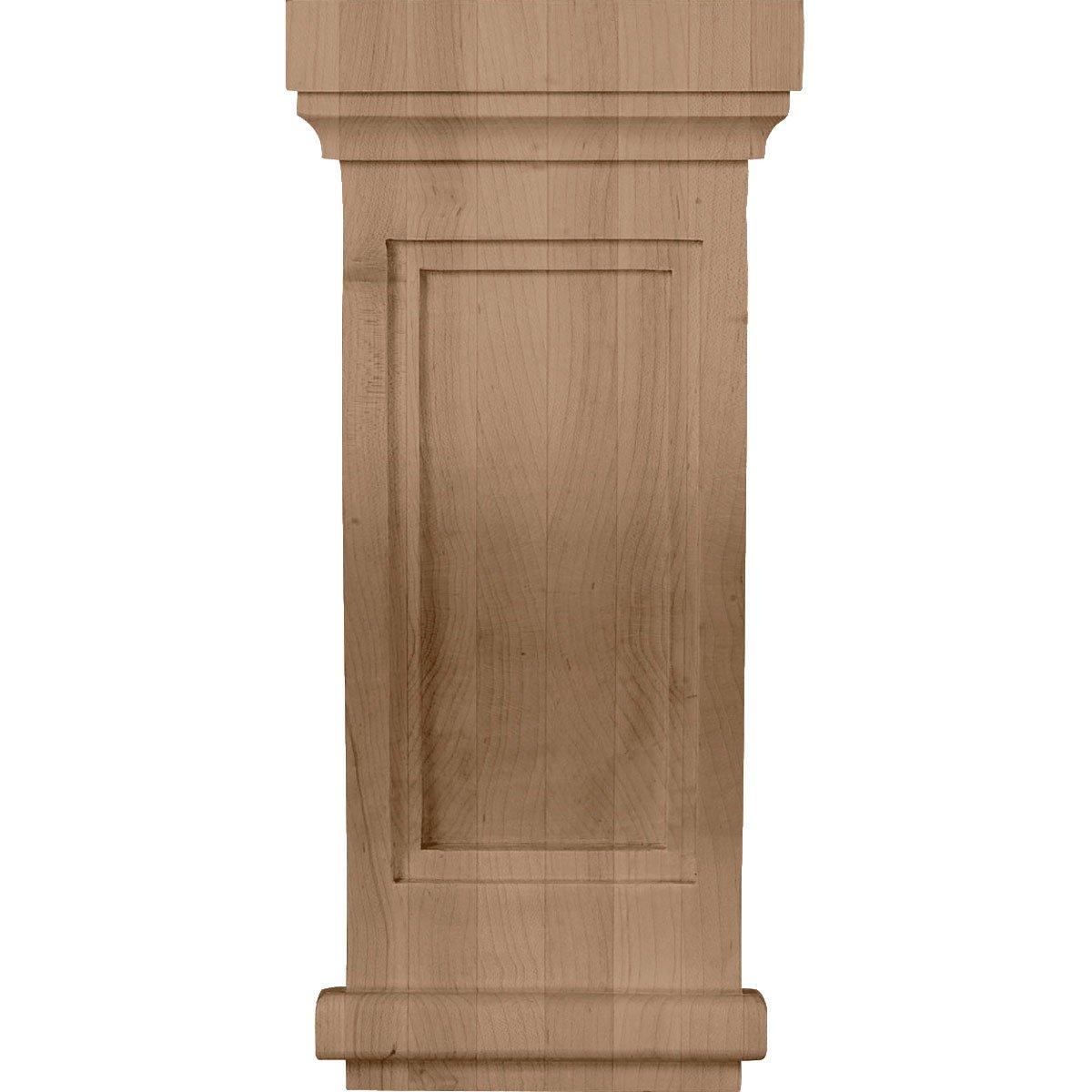 Ekena Millwork COR06X06X14TRMA 6 1//2-Inch W x 6 1//2-Inch D x 14-Inch H Charleston Mission Corbel Maple