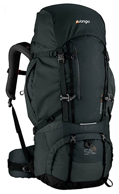 d13c3fd8f7 Vango Sherpa 70+10 Rucksack - Shadow Black  Amazon.co.uk  Sports ...