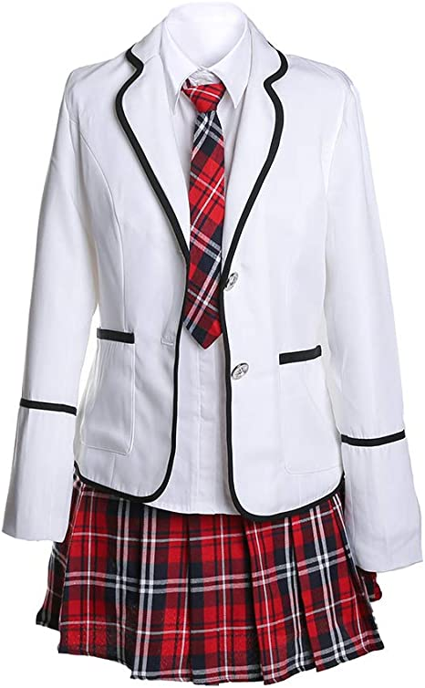 URSFUR Uniforme Escolar japonés de niñas Chicas Traje de Marinero ...