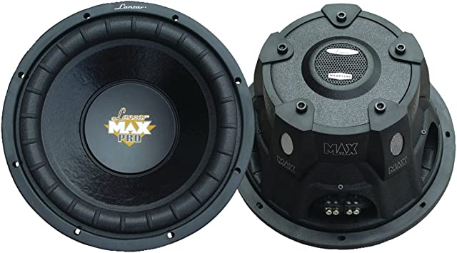 SUBWOOFER Sub LANZAR MAXP124D MAX P124D DE 30,00 CM 12 300 MM DVC 4+4 Ohm DE 800 Watt RMS Y 1600 Watt MAX Doble Bobina DE 4 4 Ohm DVC Dual Voice Coil por CAP/Ó Maletero