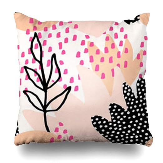YeaSHARK Funda de almohada estilo salpicaduras color pintura ...