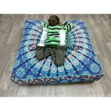 Christmas Gift COR's Hippie Ombre Mandala Tapestry Square Floor Cushion Cover Wall Hanging Beach Towel Throw Yoga Mat Square Mandala Cushion Cover Tapestry 95 CM's