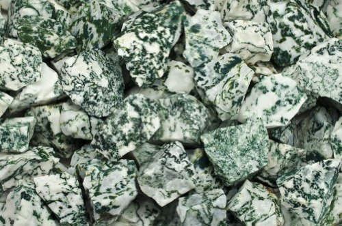 (Fantasia Materials: 3 lbs Tree Agate AA Grade Rough - (Select 1 to 18 lbs) - Raw Natural Crystals for Cabbing, Cutting, Lapidary, Tumbling, Polishing, Wire Wrapping, Wicca and Reiki Crystal Healing)
