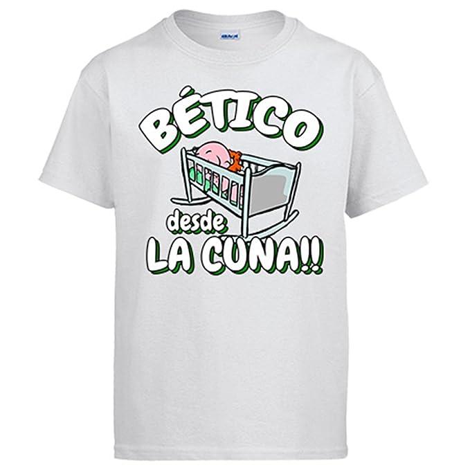 Camiseta Bético Betis fútbol desde la cuna - Blanco, 3-4 años