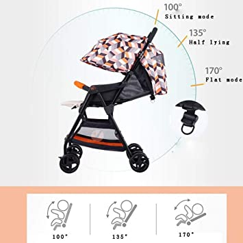 XYQ Carrito de bebé-Carrito para bebés Puede Sentarse ...