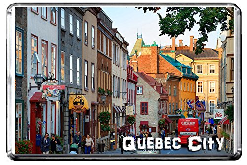 GIFTSCITY D76 QUEBEC CITY FRIDGE MAGNET CANADA TRAVEL PHOTO REFRIGERATOR MAGNET (Best Of Quebec City)