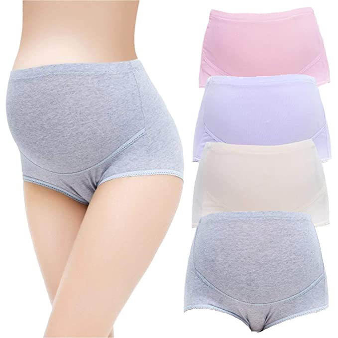 589a87befe9a8 Image Unavailable. Image not available for. Color: Shentukeji Maternity  Underwear High Waist Cotton Pregnancy Brief ...