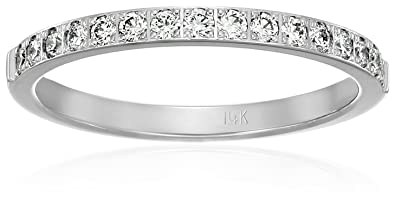 Jewelry & Watches 0.32 Tcw Color D Clarity Vs2 Round Cut 14k White Gold Diamond Diamond Bangle Bracelet