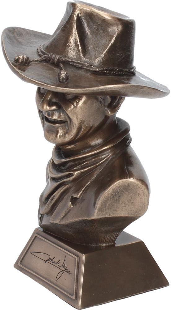 Bronze Effect John Wayne Bust Sculpture Statue Figurine Ornament