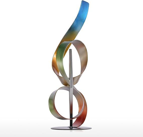 Tooarts Square et ruban Sculpture moderne Sculpture abstraite Sculpture en m/étal int/érieure-ext/érieure Decor