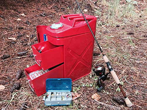 RAMPAGE PRODUCTS 86619 Red Universal Trail Can Utility/Tool Box
