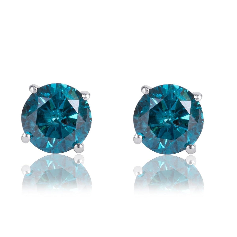 Amazon 1 5 Carat Premium Blue Diamond Solitaire Screw Back