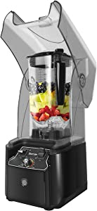WantJoin Professional Commercial Blender With Shield Quiet Sound Enclosure 2200W Industries Strong and Quiet Professional-Grade Power, Self-Cleaning, Black (black)