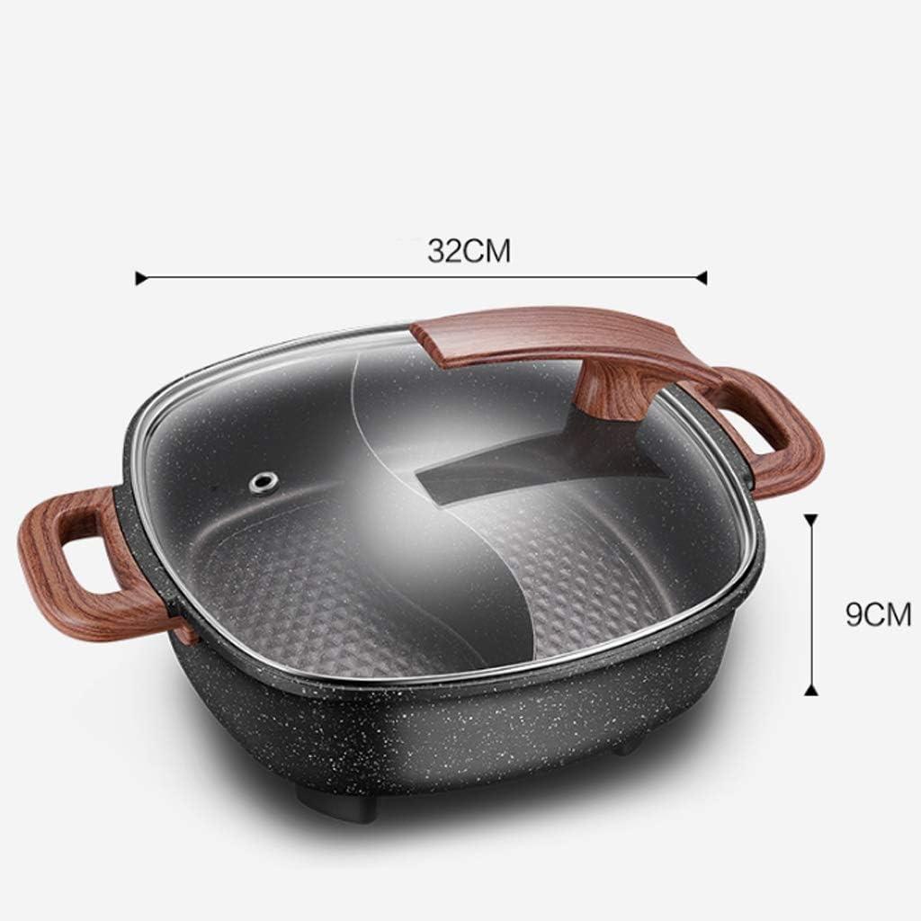 N/A ECSWP Electric Fire Hot Pot Start Multifunktions Elektro Hot Pot Schlafelektrokoch Pan Elektro Wok Kochen (Color : A) B