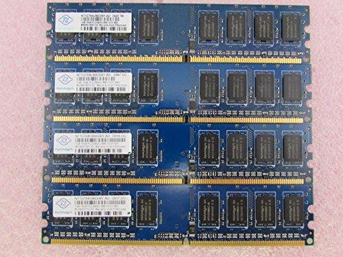 (Nanya NT1GT64U88D0BY-AD 4GB 4 x 1GB PC2-6400U DDR2 800 non-ECC Unbuff Memory Kit)