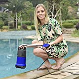Professional 400W 1/2 HP Submersible Sump Pump 110V 2115GPH Energy Saving Clean Water Pump for Home, Swimming Pool Pond US STOCK (blue)