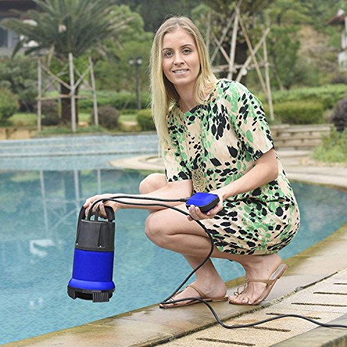 Professional 400W 1/2 HP Submersible Sump Pump 110V 2115GPH Energy Saving Clean Water Pump for Home, Swimming Pool Pond US STOCK (blue) by Dtemple