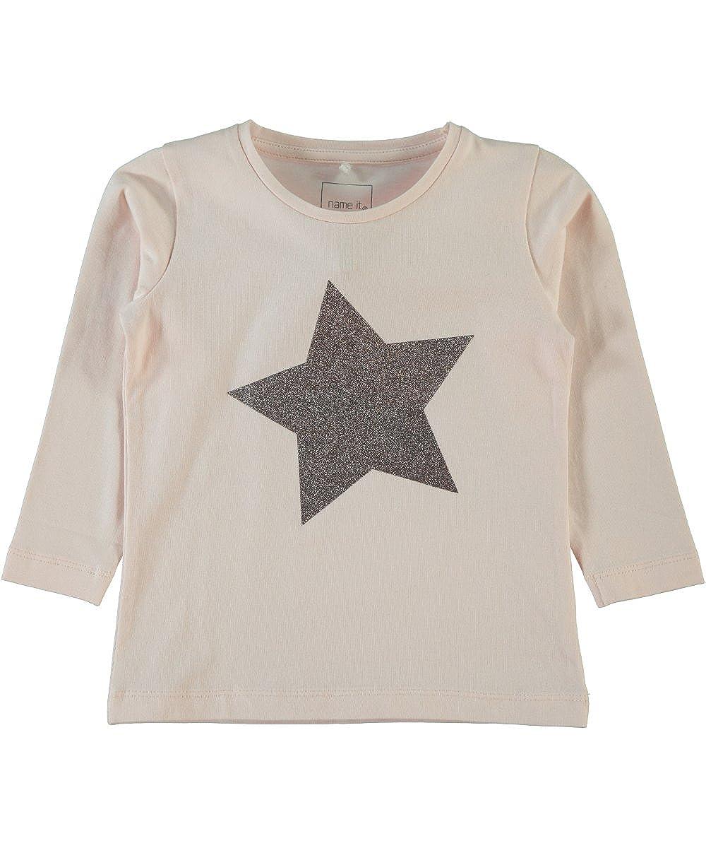 name it Mini M/ädchen Langarmshirt Shirt Vogarda in snow white mit Streifen