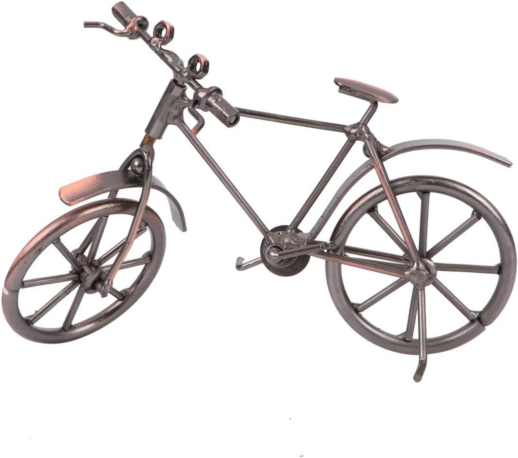CLISPEED Bicicleta Modelo Artesanía Metal Retro Bicicleta Modelo Molde Bicicleta Vieja para Decoración Decoración: Amazon.es: Hogar
