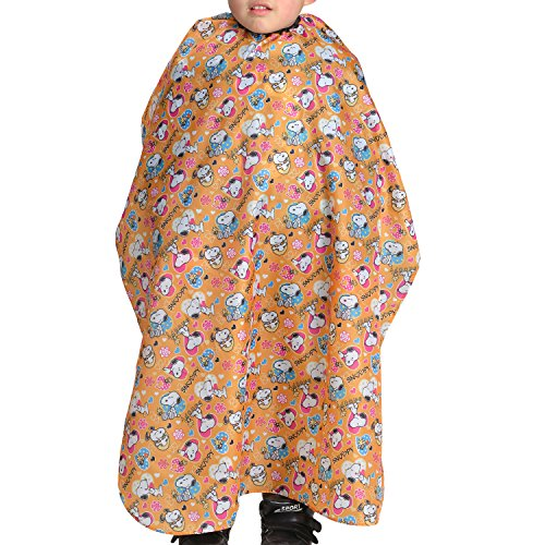 Colorfulife Child Hair Cutting Waterproof Cape Barber Kids Hair Styling Cloth with Snap Closure Professional Home Salon Hairdressing Wrap Cartoon Dog Pattern B018(Orange Dog)