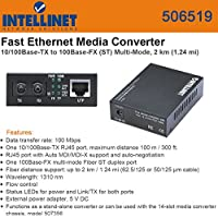 Intellinet 506519 Fast Ethernet Media Converter 10/100Base-TX to 100Base-FX (ST)