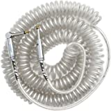 Bullet Cable 30 ft Premium Vintage Coil Cable - Clear - Straight to Angle Chrome Bullet Connectors