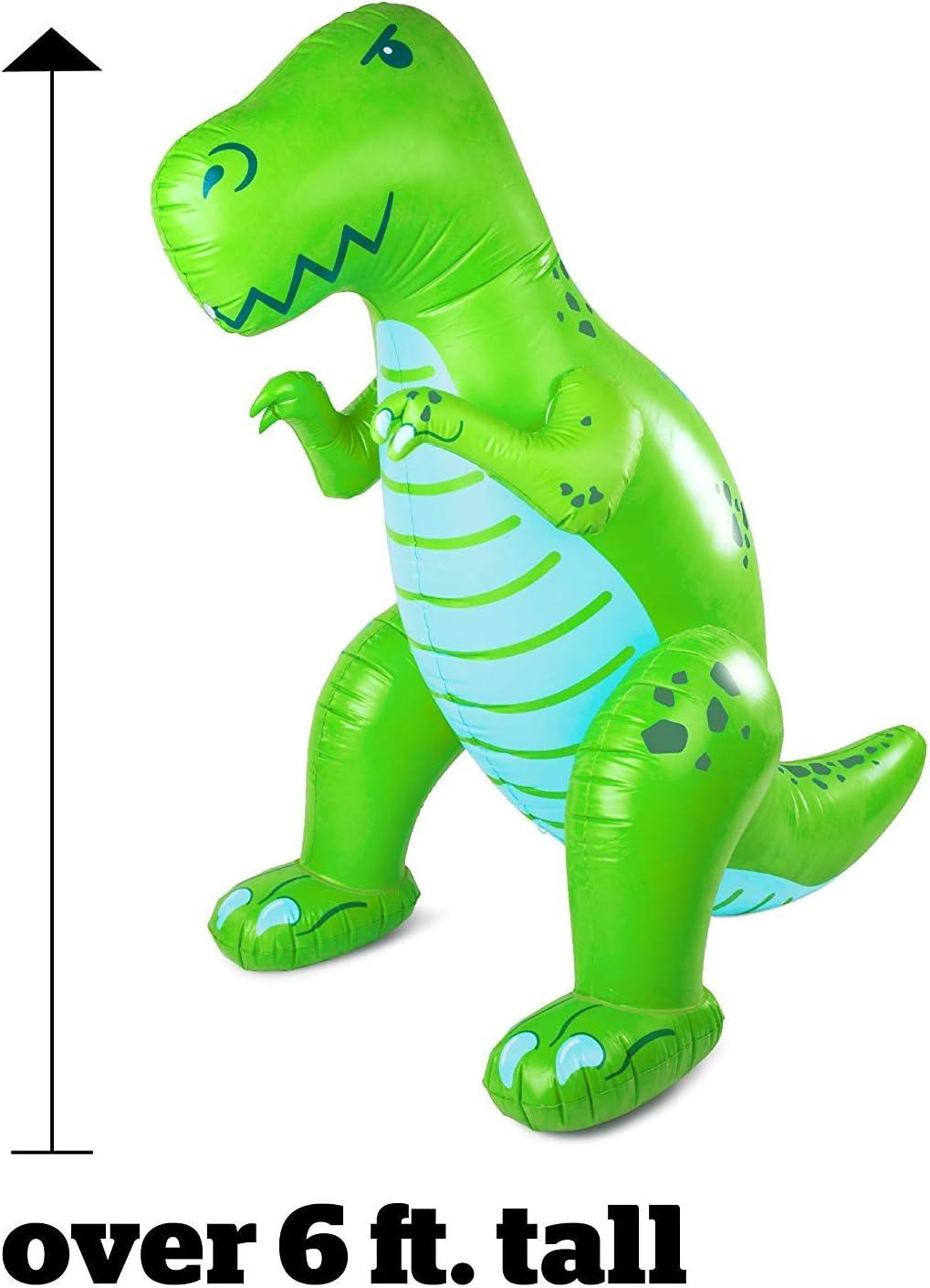 Dino Wassersprenger 2m hoch aufblasbar grün T-Rex Saurier Dinosprenger mit