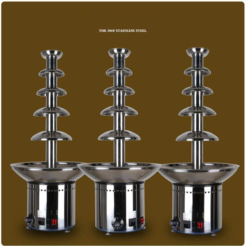 Socean Commercial chocolate fountain, waterfall machine five-layer spray tower automatic temperature control stainless steel kettle fountain waterfall. by Chocolate Fountain (Image #6)