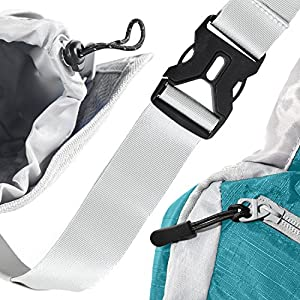 ErgaLogik Day Trekker - Hiking Waist Pack with Water Bottle (Not Included) Holder - Fanny Pack - Dog Walking - Running Belt Bag Pouch Fanny Pack for Hiking Running Cycling Camping Travel (Aqua Blue)