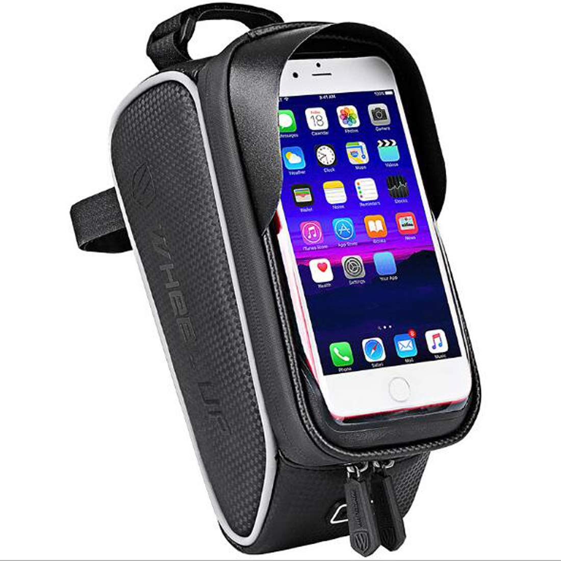 2019 Mountain Bike Waterproof Bag Polyester Touchscreen Cell Phone Stand Pannier