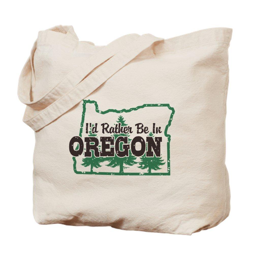 CafePress – I ' d Rather Be In Oregon – ナチュラルキャンバストートバッグ、布ショッピングバッグ B06VVZ6WL6