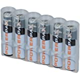 Storacell by Powerpax SlimLine AAA Battery Caddy, Clear, Holds 6 Batteries