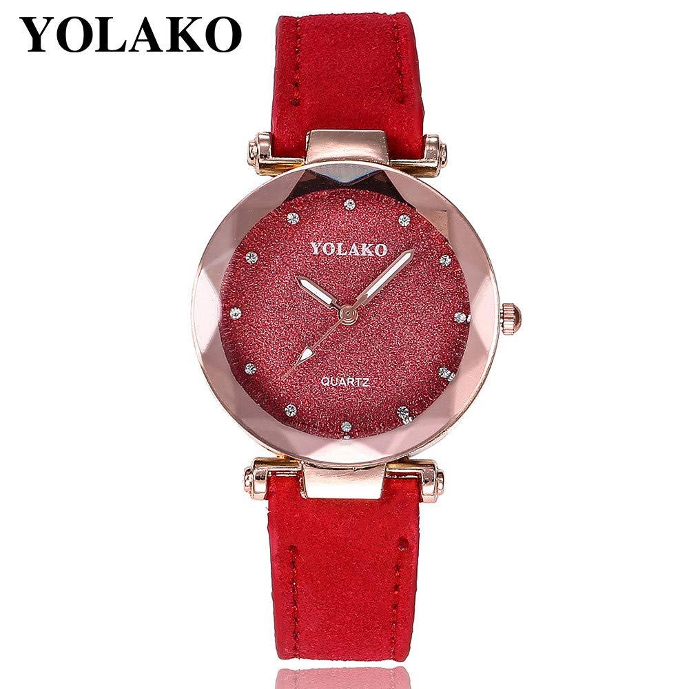 BBestseller Pulsera del Relojes Retro Estilo Romano Cuarzo Reloj de Pulsera Mujeres Accesorios de Moda Cuero de Reloj Watch (Gris): Amazon.es: Relojes