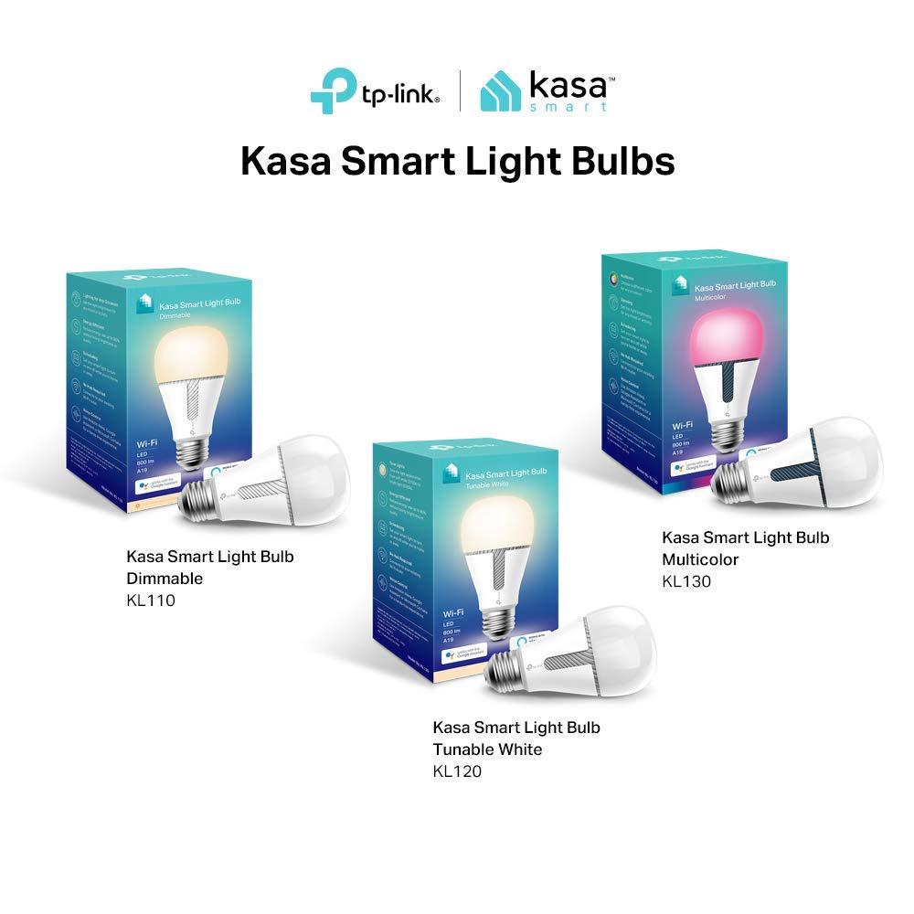 Kasa Smart WiFi Light Bulb, Multicolor by TP-Link - Smart LED Light Bulbs, Works with Alexa & Google (KL130) by TP-LINK (Image #7)