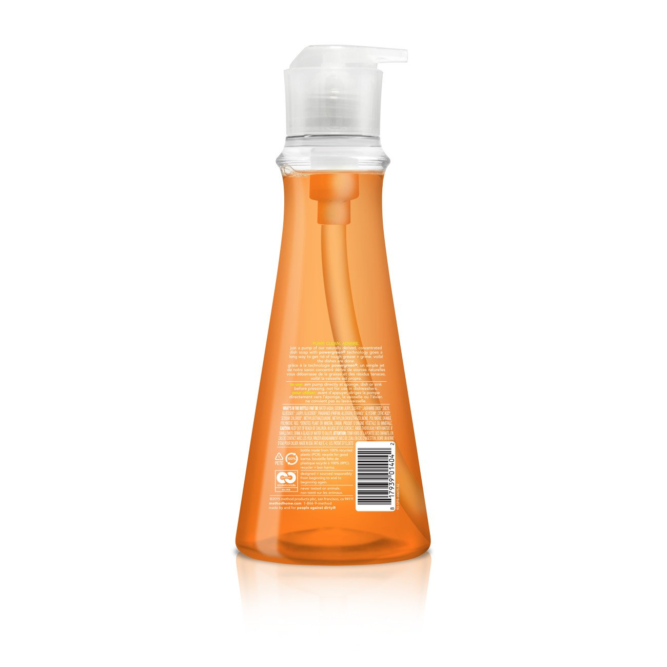 Amazon com method dish soap clementine 18 ounce pack 6 health personal care