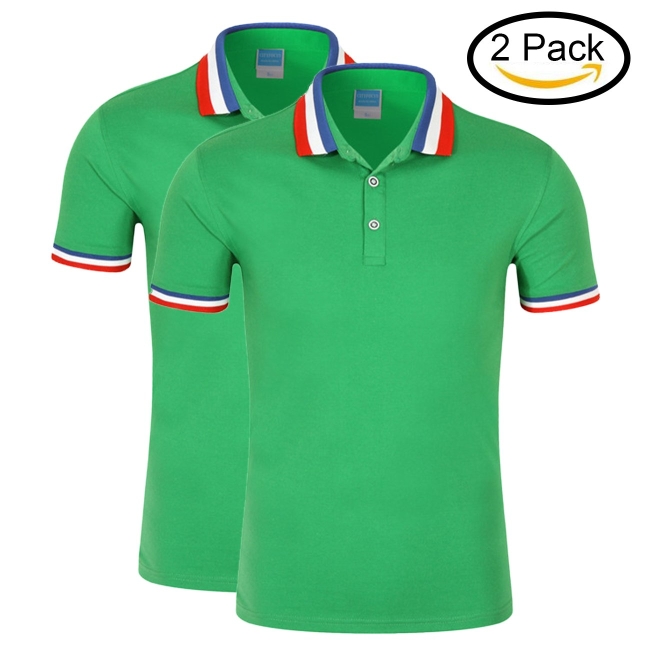 Geezan Polo T Shirts Women 2 Pack Ladies Polo Shirts Loose Fit