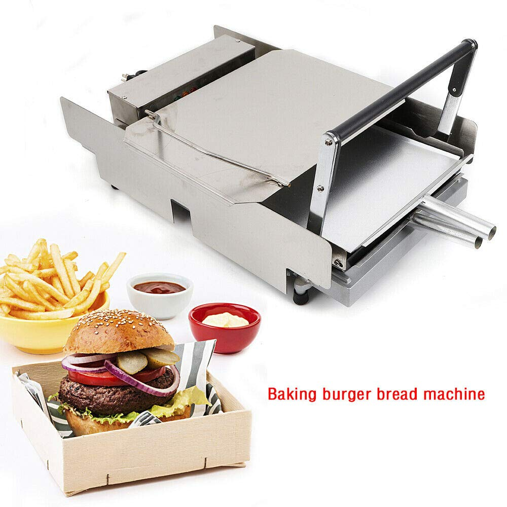 110V 2000W Commercial Double Layer Electric Hamburger Machine Baking Burger Maker Heating Charter Cooking Tool for Home Kitchen and Restaurant - US Shipping by NICE CHOOSE (Image #2)